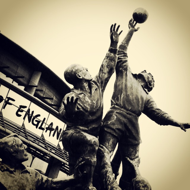 """The Lineout - By Gerald Laing"" stock image"
