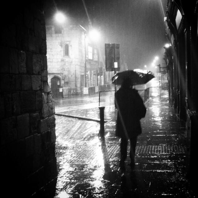 """Rainy night in York"" stock image"
