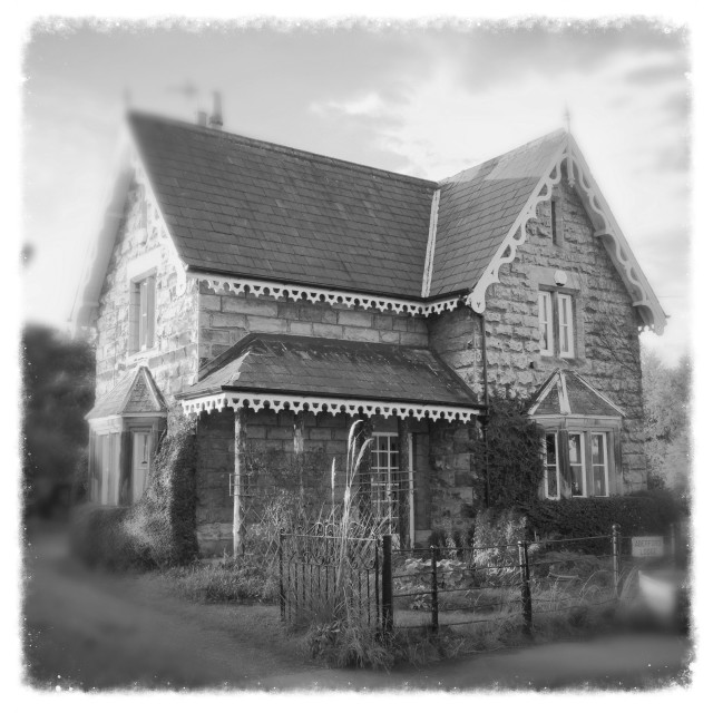 """Aberford Lodge"" stock image"