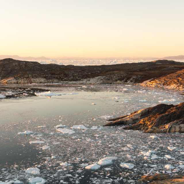 """""""Arctic landscape in Greenland"""" stock image"""