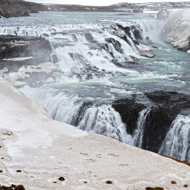 """Gullfoss Waterfalls"" stock image"