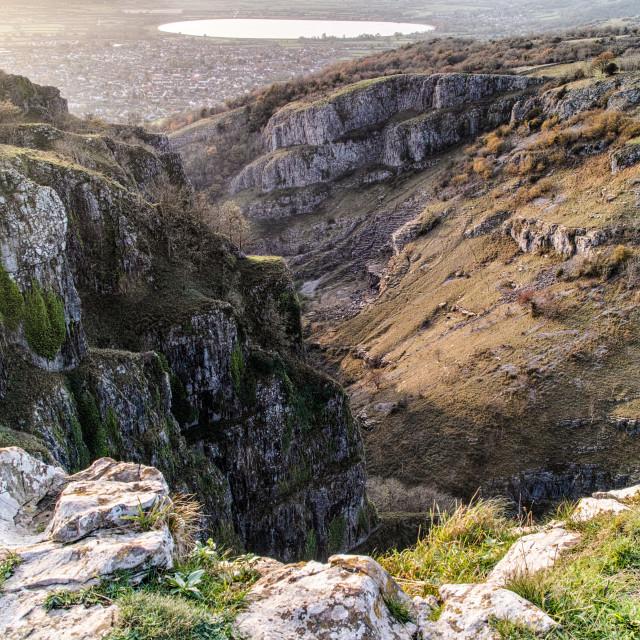 """Cheddar Gorge"" stock image"