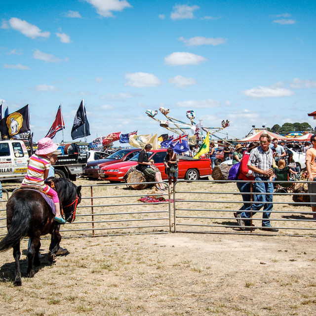 """Pony Ride At Rural Fair in Australia"" stock image"