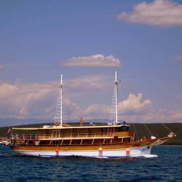 """Tourist ship"" stock image"