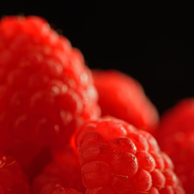 """Raspberry Close Up"" stock image"