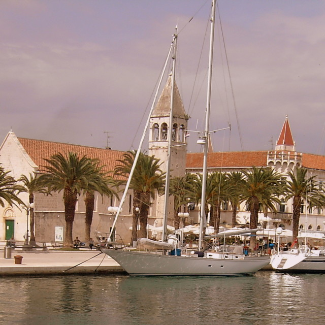 """Trogir port"" stock image"