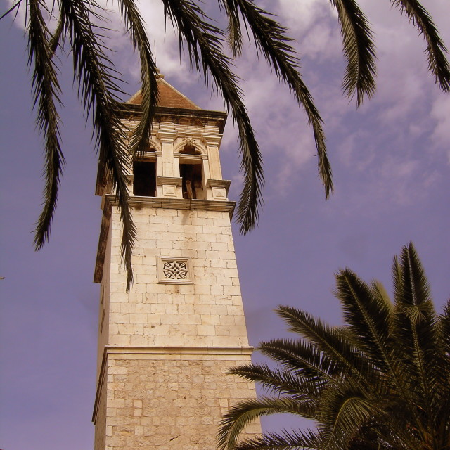 """Trogir church tower"" stock image"