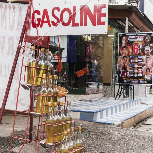 """Gasoline for sale"" stock image"