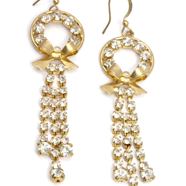 """Beautiful fashion earrings"" stock image"