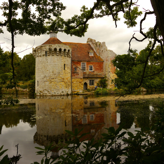 """""""Scotney Old Castle"""" stock image"""