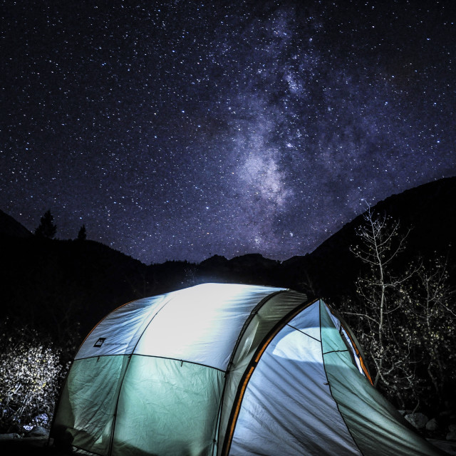 """Milky Way Tent"" stock image"