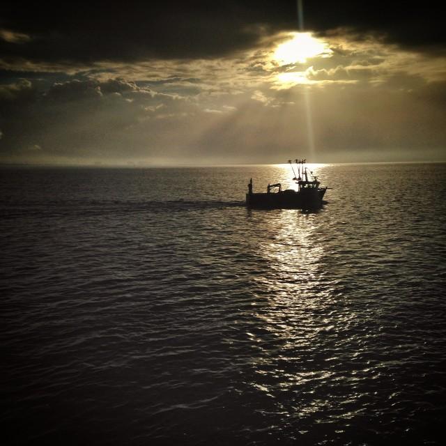 """""""Thames Estuary"""" stock image"""