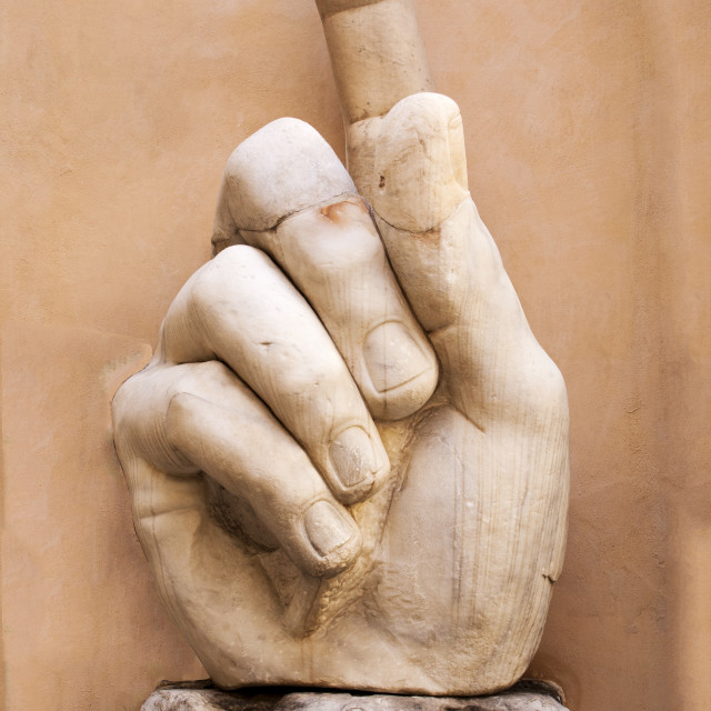 """Hand of Constantine, Rome"" stock image"