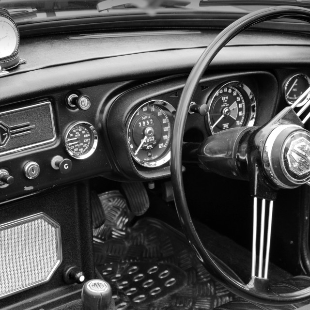 """MG Interior"" stock image"