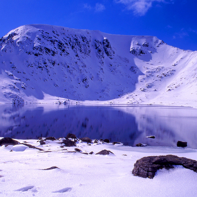 """Helvellyn from Red Tarn"" stock image"