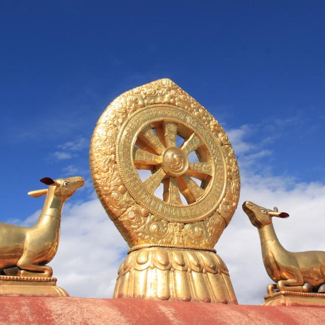 """Johkang Temple, Tibet"" stock image"