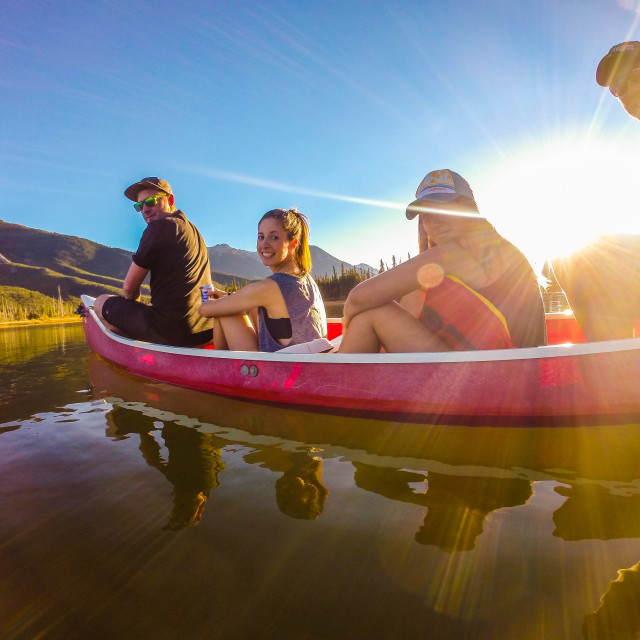 """Evening Canoe"" stock image"