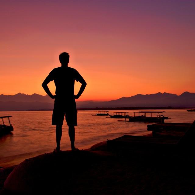"""Gili Air Sunrise"" stock image"