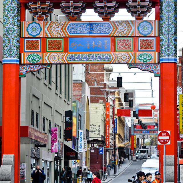 """Chinatown Gate in Melbourne"" stock image"