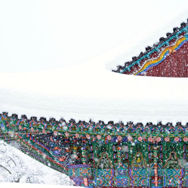 """Winter Temple"" stock image"