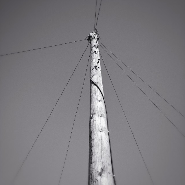"""Pole and wires"" stock image"
