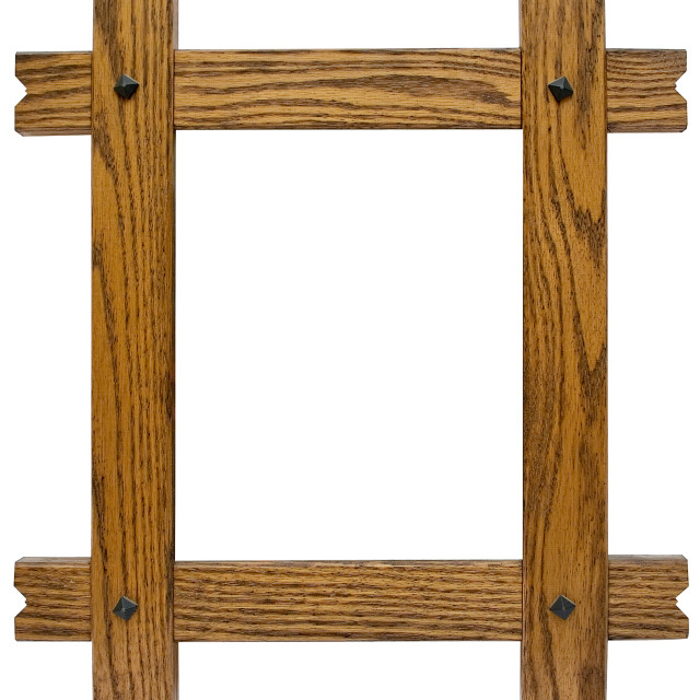 """Rustic Picture Frame with Clipping Path"" stock image"