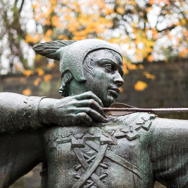 """Robin Hood Statue ,Nottingham ."" stock image"