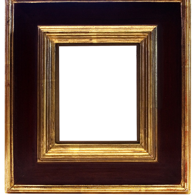 """Gold Framed Picture Frame with Clipping Path"" stock image"