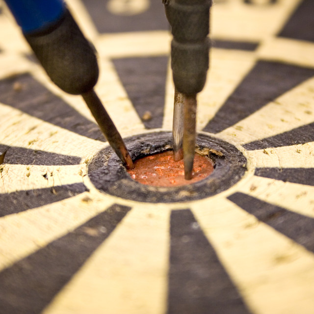 """Dartboard Close-Up"" stock image"