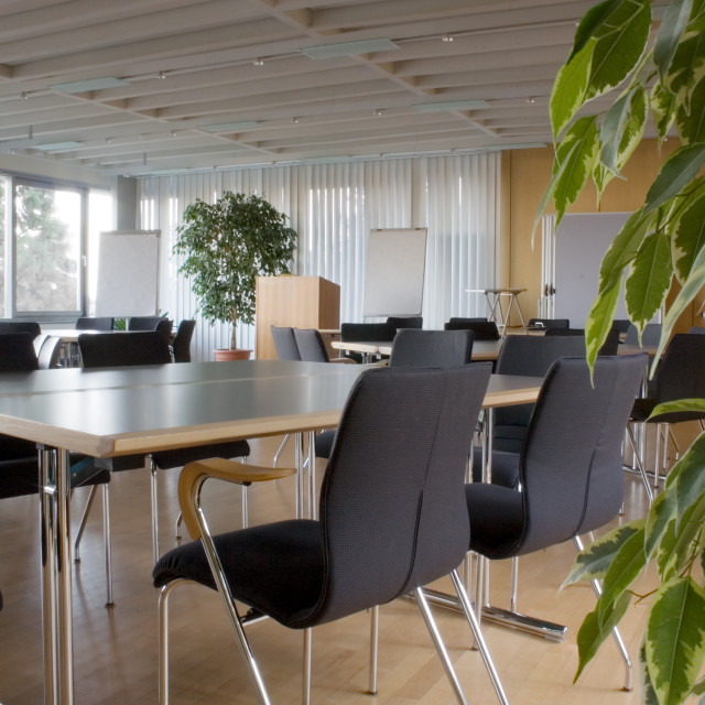 """Empty Meeting Room"" stock image"