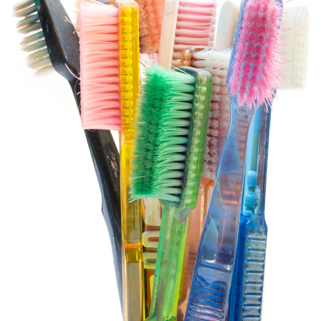 """Colored Toothbrushes"" stock image"