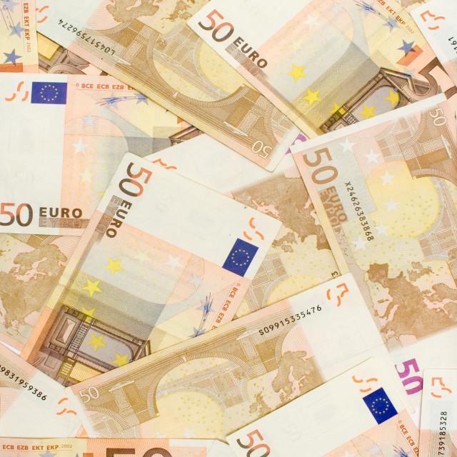 """Fifty Euro Banknotes"" stock image"