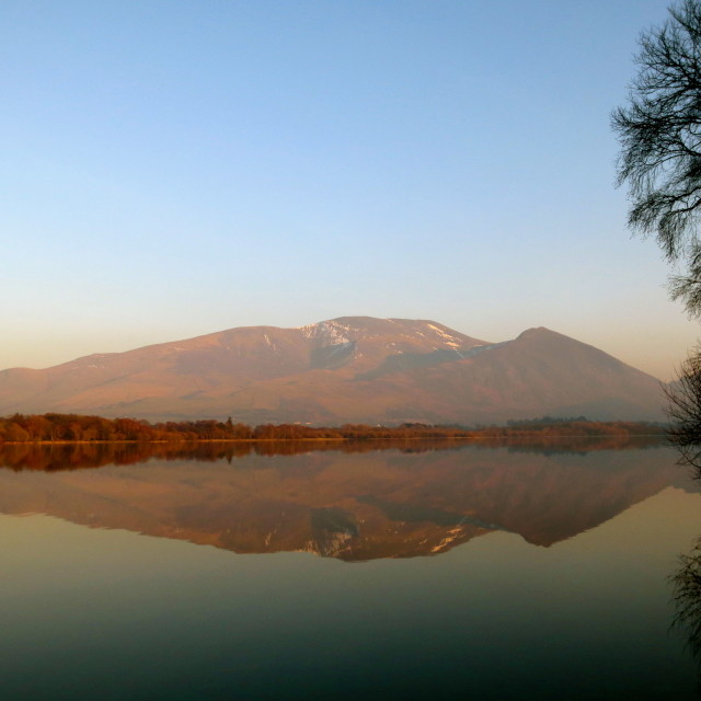 """Bassenthwaite and Skiddaw"" stock image"