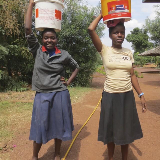 """Tanzanian schoolgirls"" stock image"