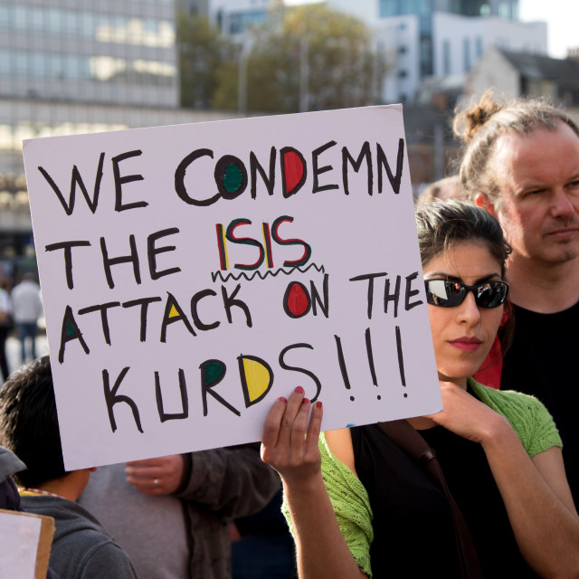 """Kurds Demonstration ."" stock image"