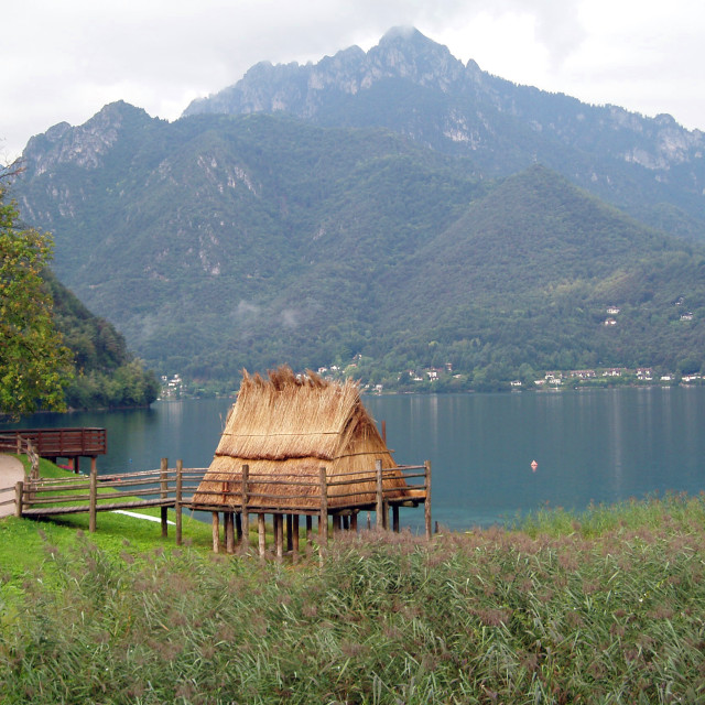 """Lago di Ledro, Italy"" stock image"