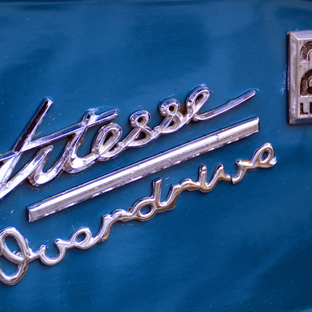 """Triumph Herald Vitesse Rear Badge"" stock image"
