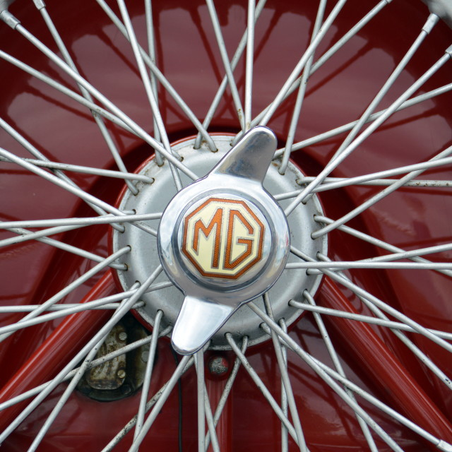 """MG Wheel Spokes"" stock image"