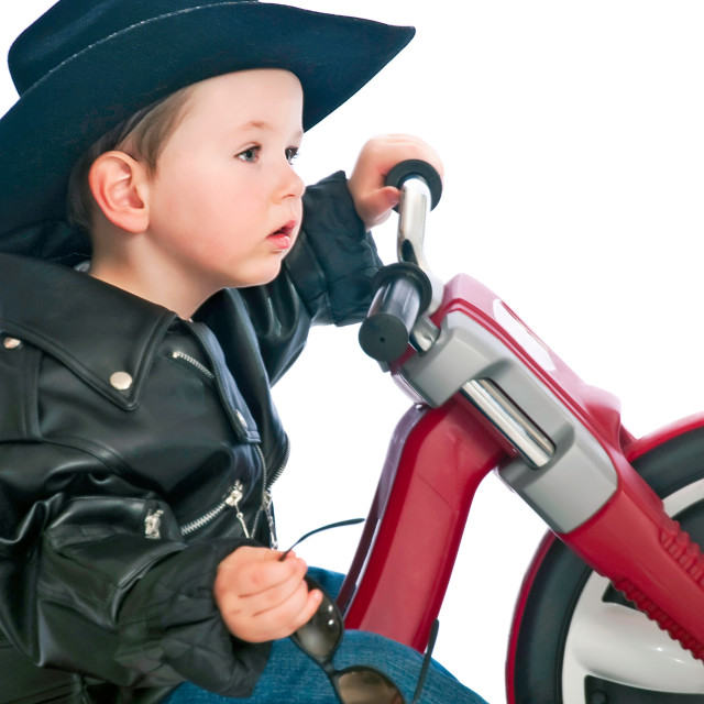"""Baby Easy Rider"" stock image"