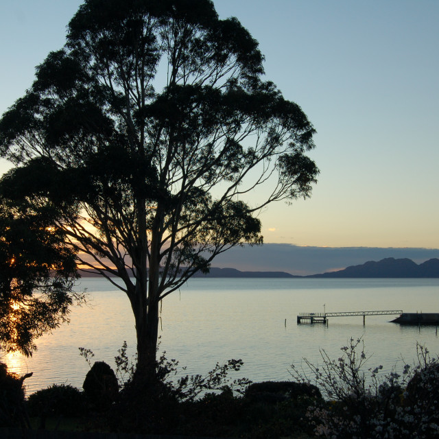 """Morning Over Great Oyster Bay Tasmania"" stock image"