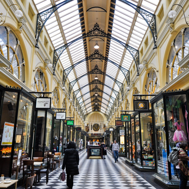 """Royal Arcade Interior Melbourne"" stock image"