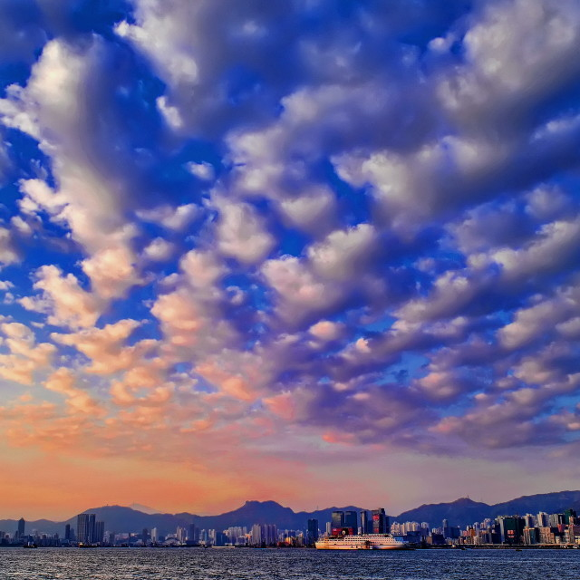 """""""Victoria Harbour, Hong Kong"""" stock image"""