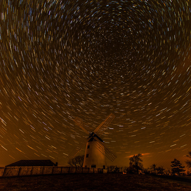 """Stars over the Windmill"" stock image"