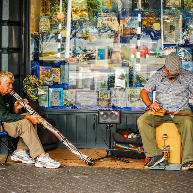 """New Zealand Street Musicians in Devonport"" stock image"