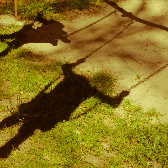 """My shadow and I"" stock image"