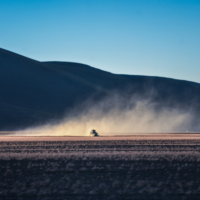 """Cruisin' the desert, Bolivia"" stock image"