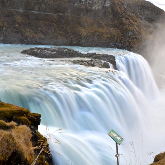 """Gullfoss Waterfall"" stock image"