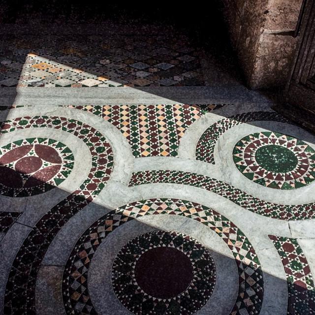 """""""Cosmatesque mosaic"""" stock image"""