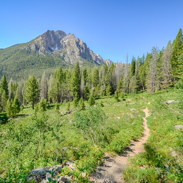 """Grand Mogul, Sawtooth National Recreation Area, ID"" stock image"