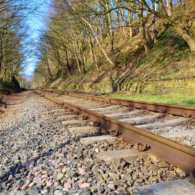 """Railway Track."" stock image"